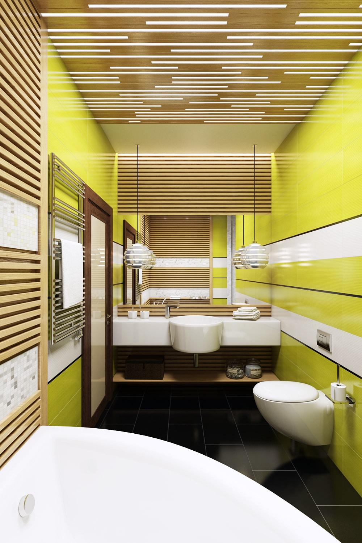 Стильный интерьер ванной с душевой для комфорта Вид02