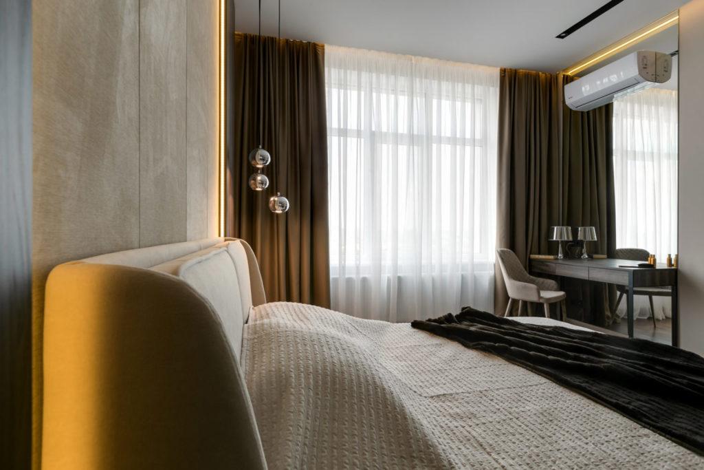 Фото интерьера спальни с прекрасным видом