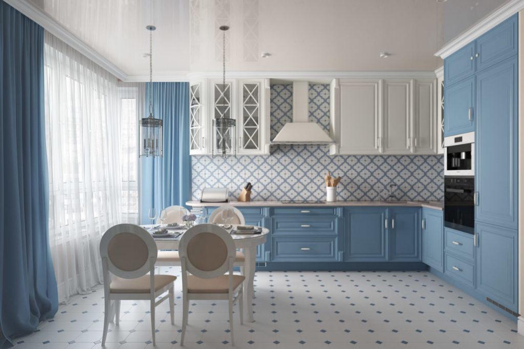 Г-образная планировка кухни в квартире