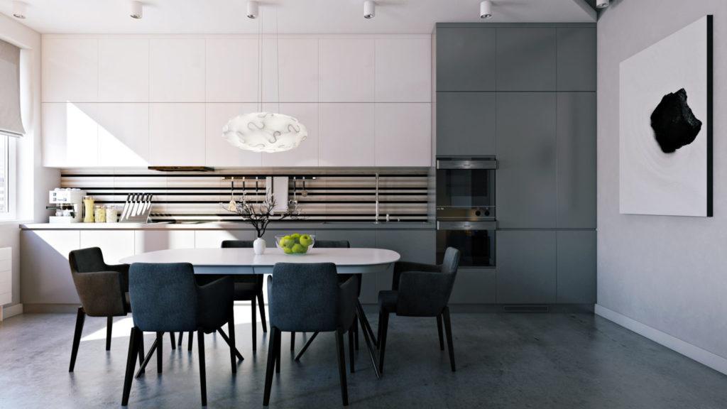 Планировка кухни в квартире-студии