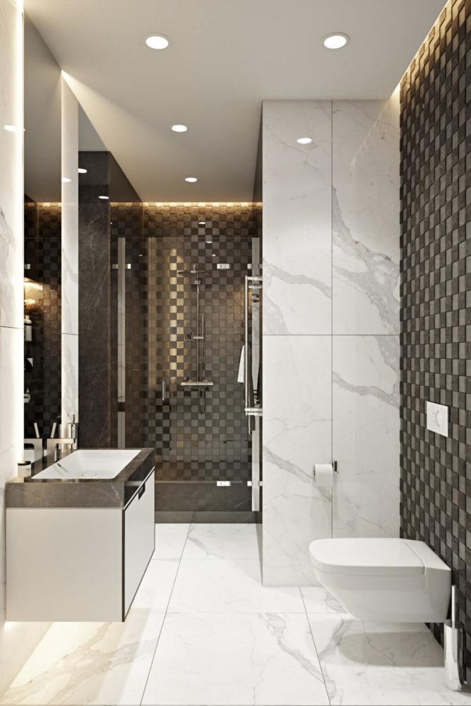 Эффективные решения для маленькой ванной комнаты