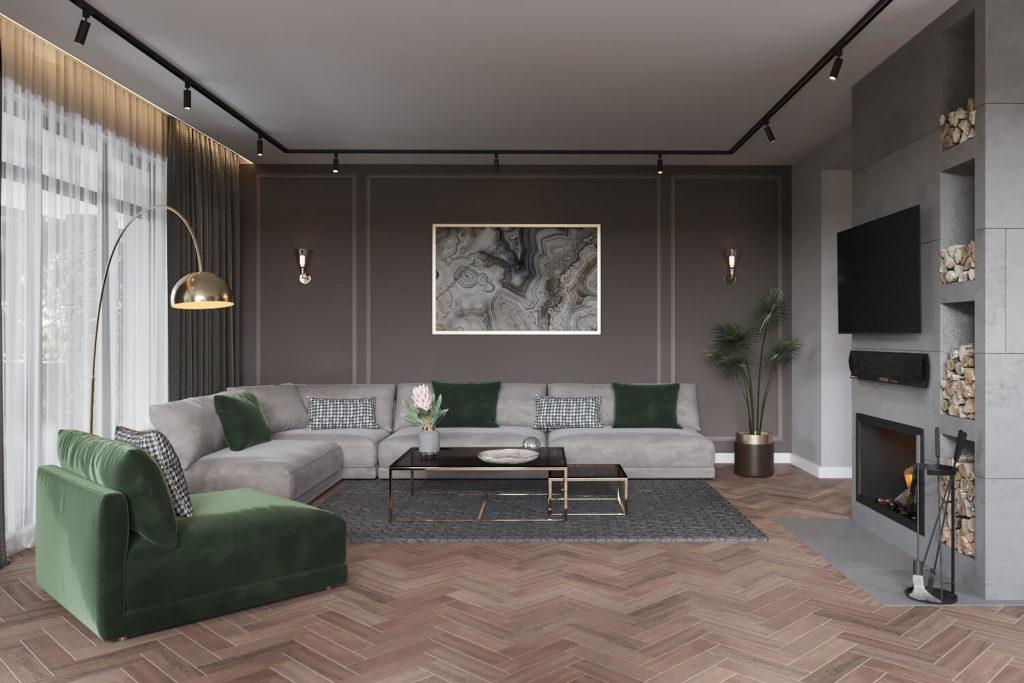 Проект ремонта гостиной с качественными материалами