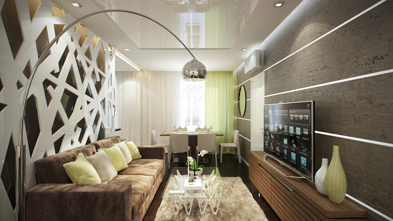 Комфортный и функциональный дизайн однокомнатной квартиры