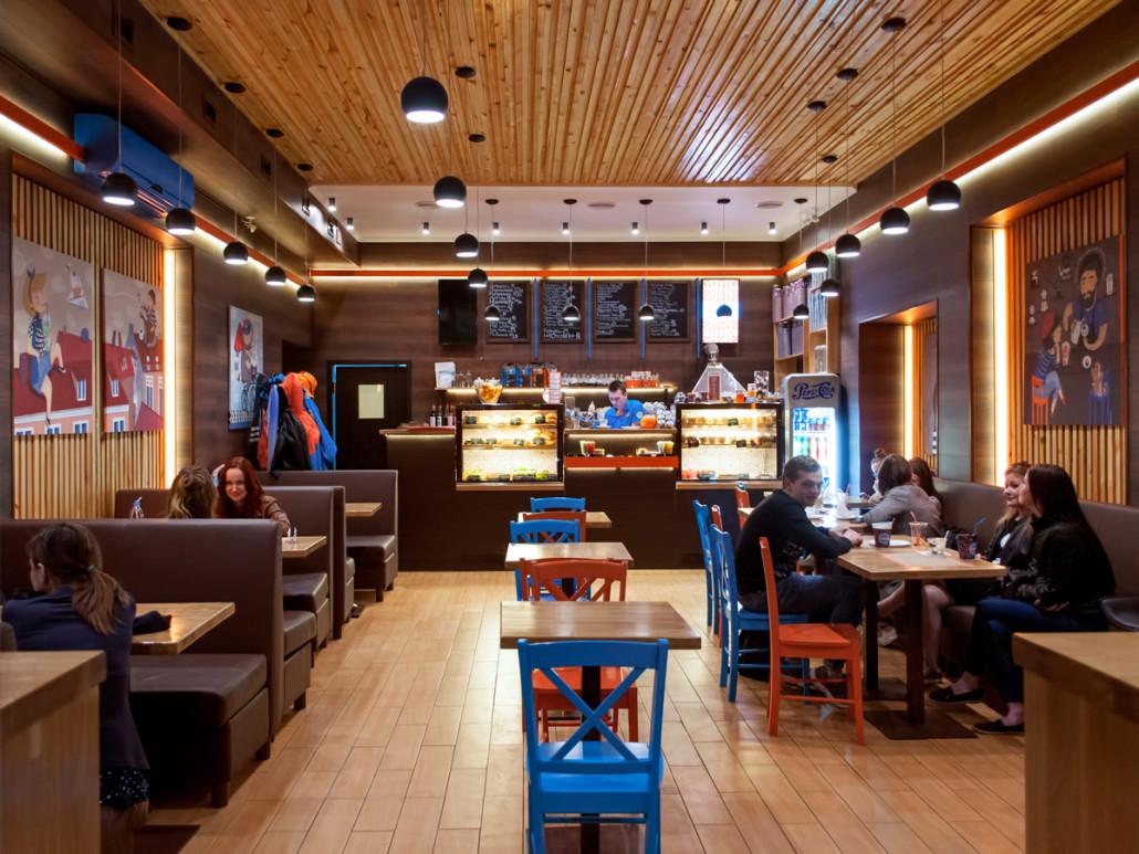 Дизайн интерьера комфортного кафе