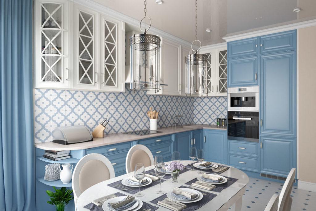 Дизайн кухни с фартуком из керамической плитки
