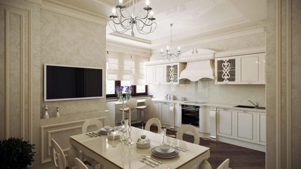 Проект капитального ремонта кухни с виниловыми обоями