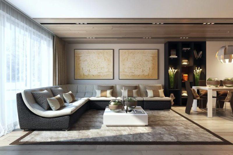 Первый секрет уютного дизайна гостиной - камин View01