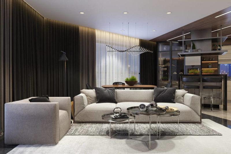 Первый секрет уютного дизайна гостиной - камин View14
