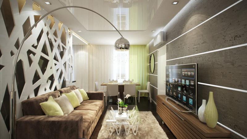 Дизайн гостиной с профессиональным светодизайном