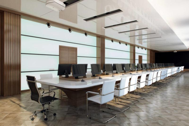 Современный конференц-зал: дизайн интерьера офиса