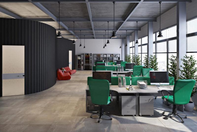 Эргономичный дизайн интерьера офиса