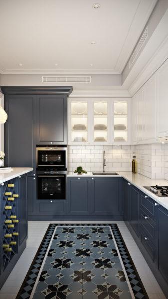 7 актуальных цветовых сочетаний для дизайна кухни. Синий
