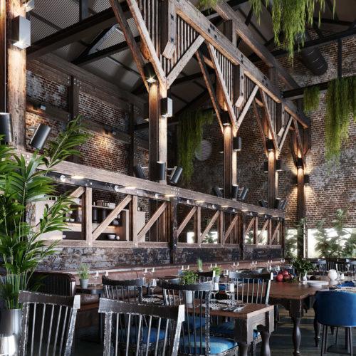 Дизайн интерьера ресторана от студии Home Interiors