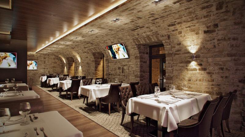 Стильный дизайн ресторана для атмосферности