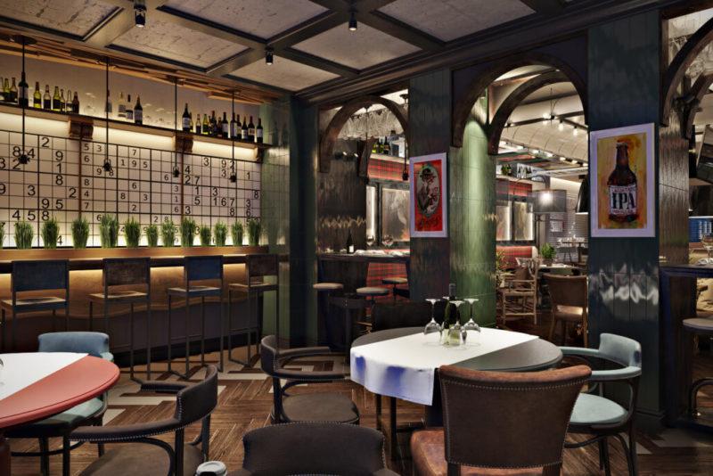 Уютный интерьер для дизайна ресторана