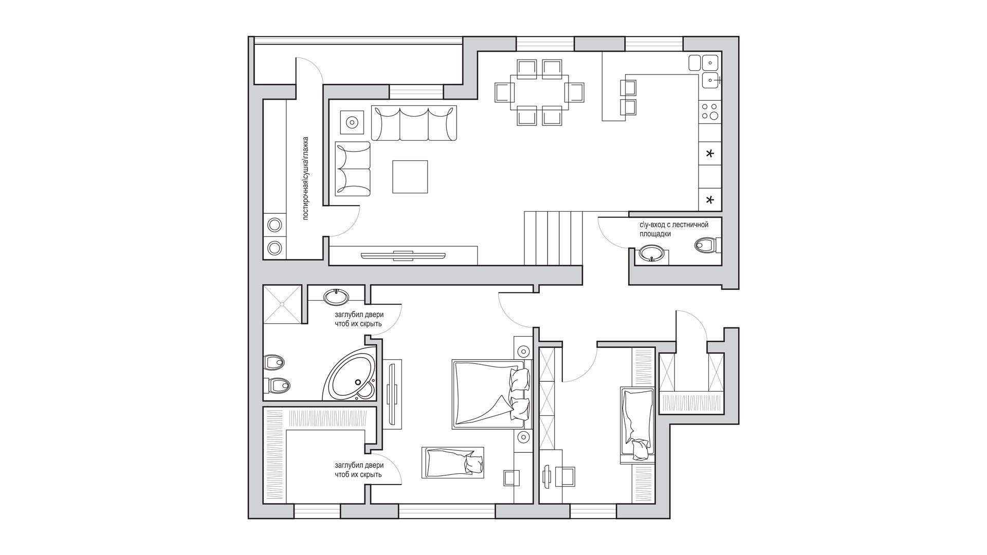 Планировка мебели в дизайн-проекте