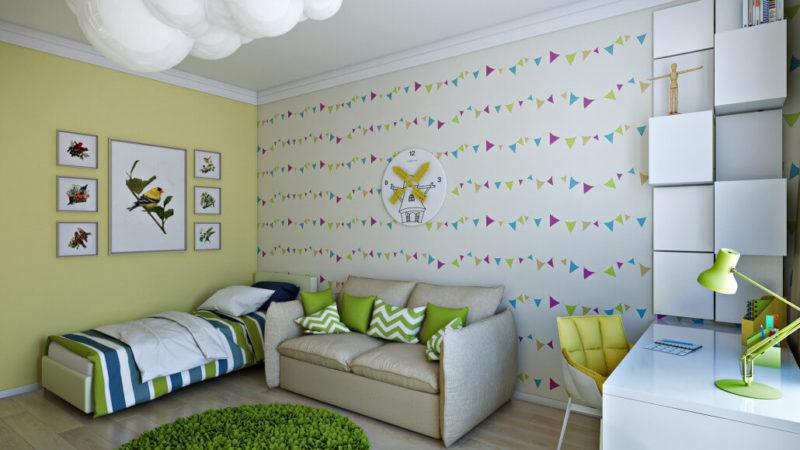 Интерьер детской с гостевой зоной