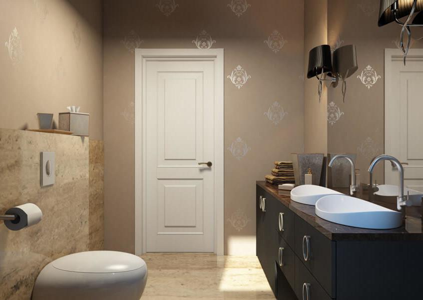Зеркальные поверхности в маленькой ванной комнате