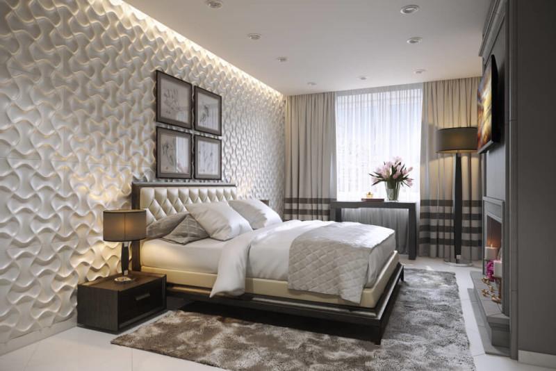 Палитра светлых оттенков в дизайне спальни
