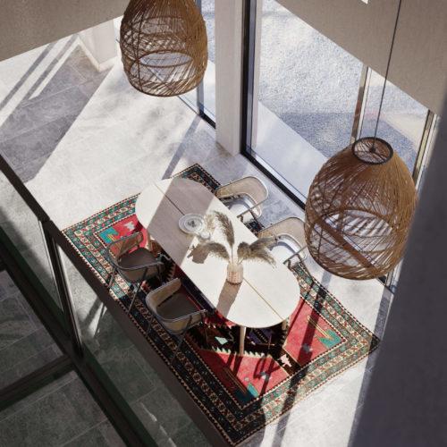 Дизайн-проект жилого дома: столовая