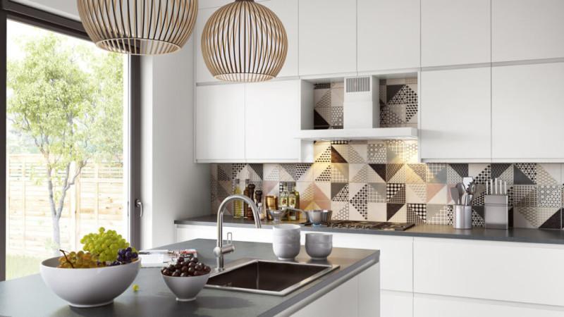 Проект дизайна кухни с фартуком из плитки