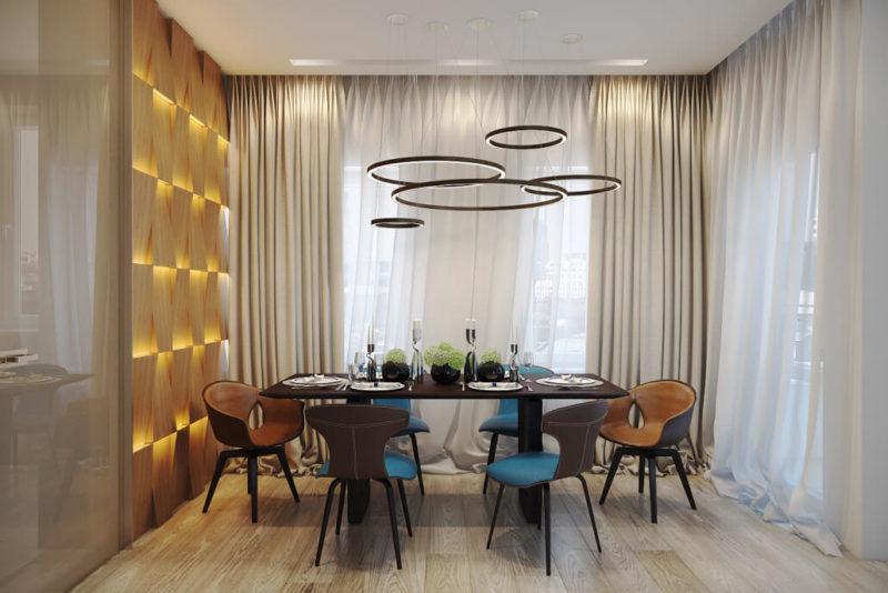Модный и яркий дизайн гостиной - современный стиль интерьера