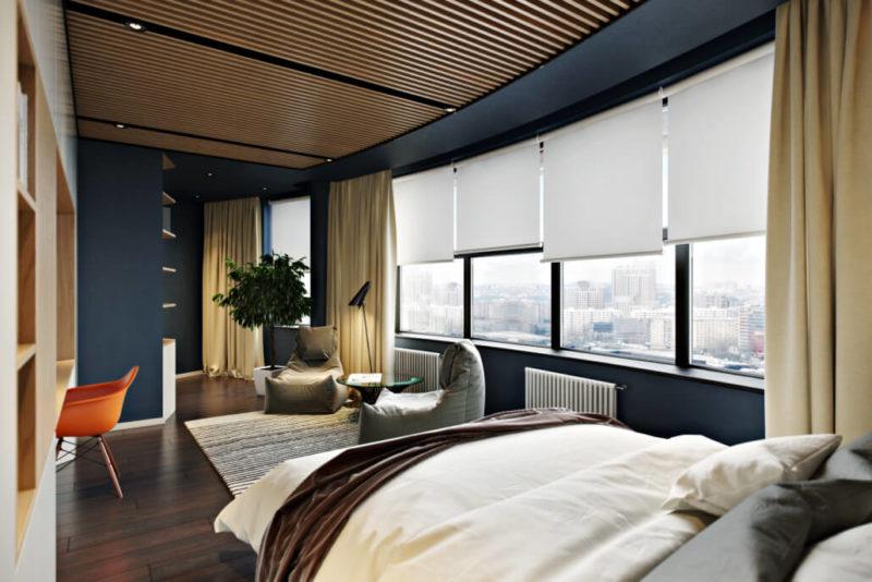 Эффектная минималистичная спальня - современный стиль