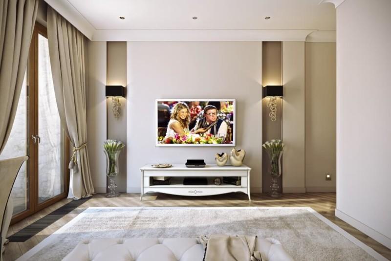 Дизайн гостиной с аксессуарами для расширения пространства