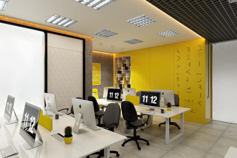 Дизайн интерьера офиса с чудесными контрастами