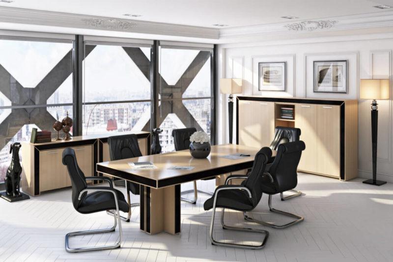 Стильный и элегантный дизайн интерьера офиса