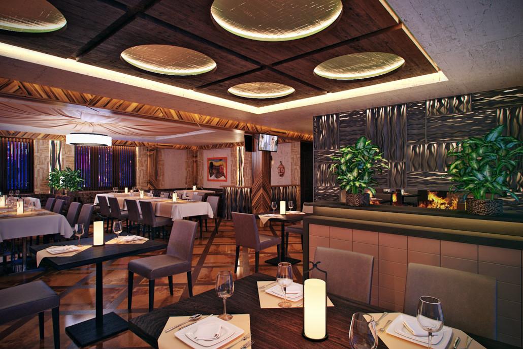 Проект дизайна ресторана