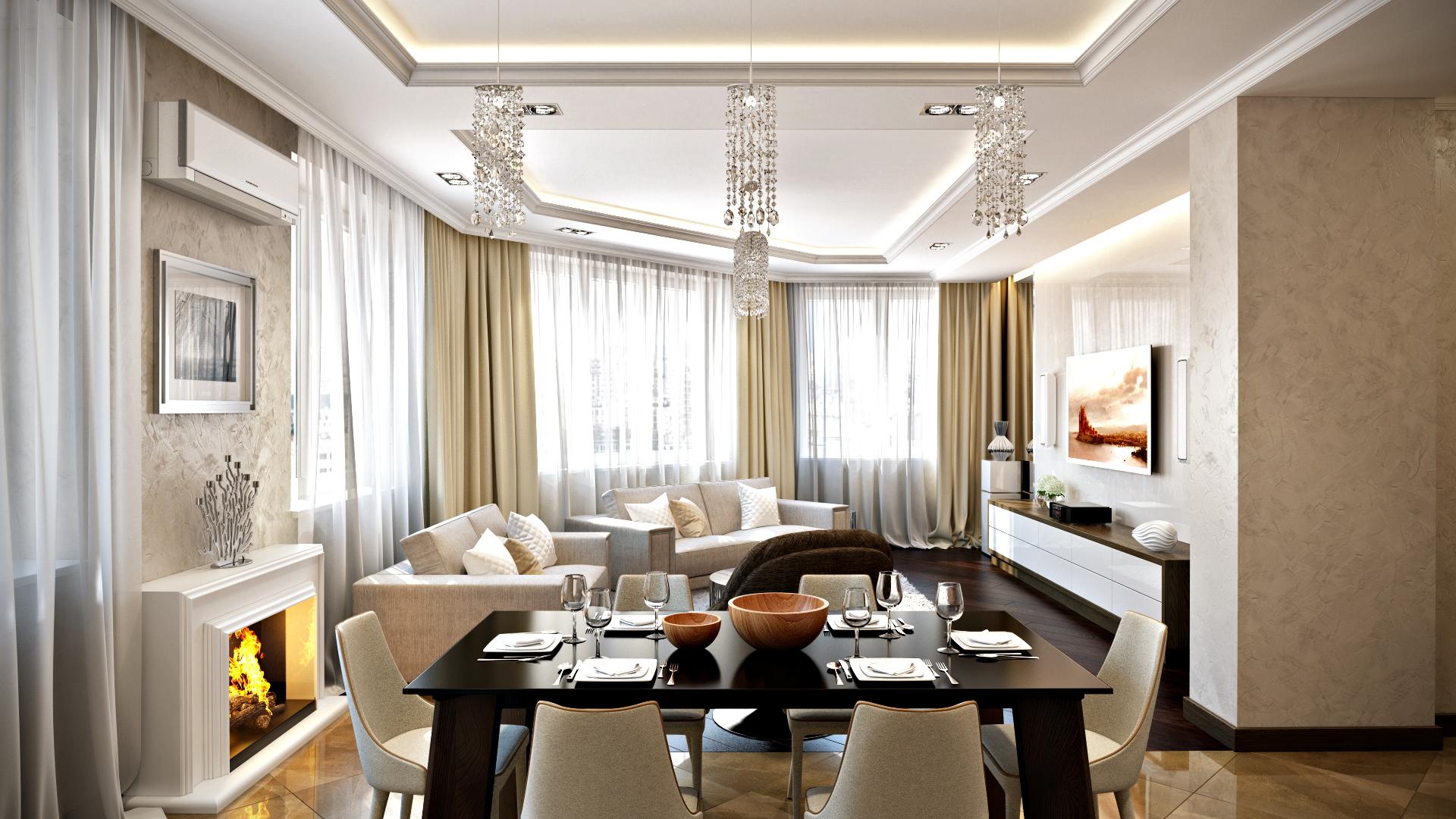 Дизайн элегантной квартиры в светлых тонах