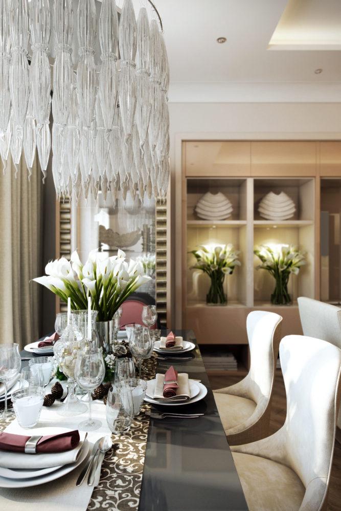 Дизайн красивых аппартаментов в новострое