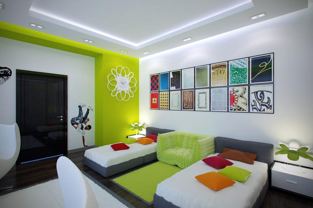 Необычный дизайн подростковой спальни ЖК Парковые Озёра