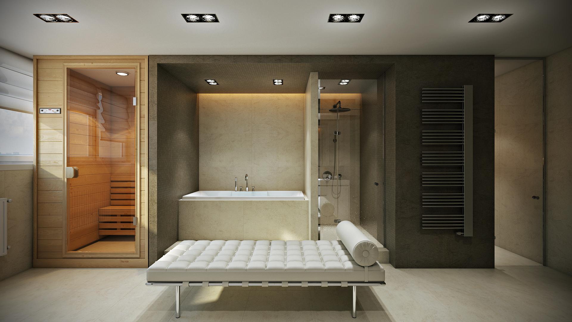 Простой дизайн SPA в квартире