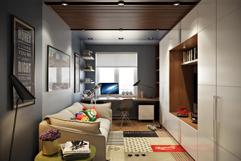 Дизайн-проект комнаты для подростка
