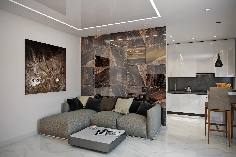 Дизайн простой современной квартиры на Нивках