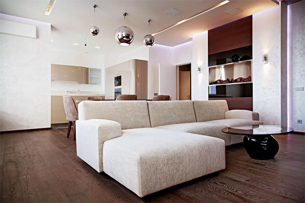 Реализованный дизайн современной квартиры