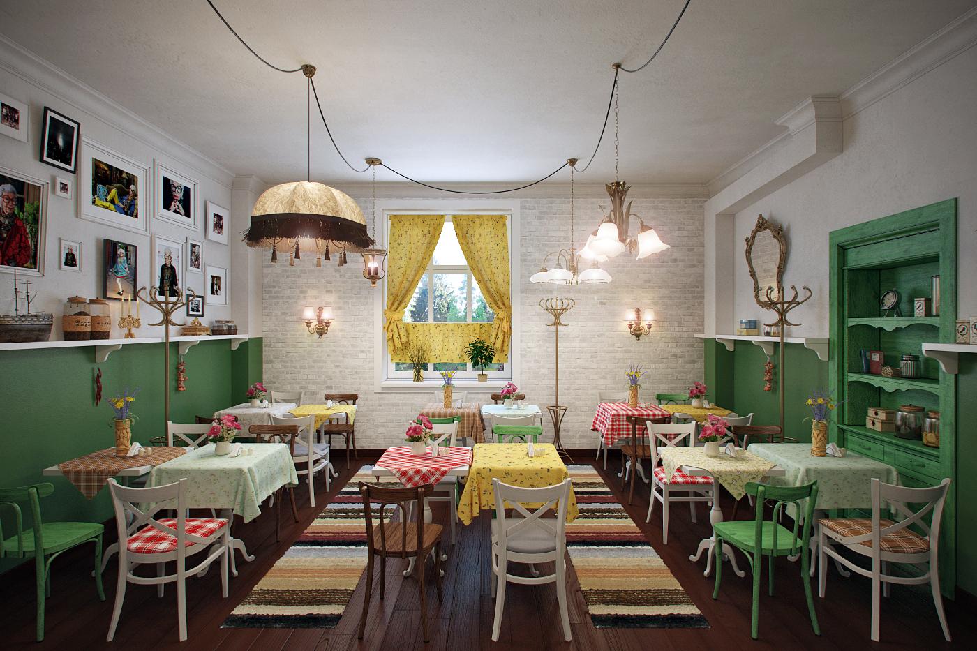 Уютный дизайн кафетерия