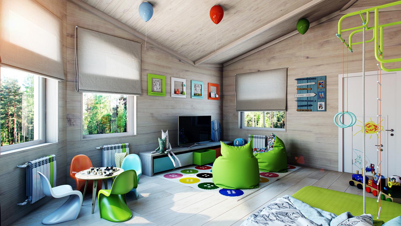 Дизайн детской комнаты в загородном доме в Буче