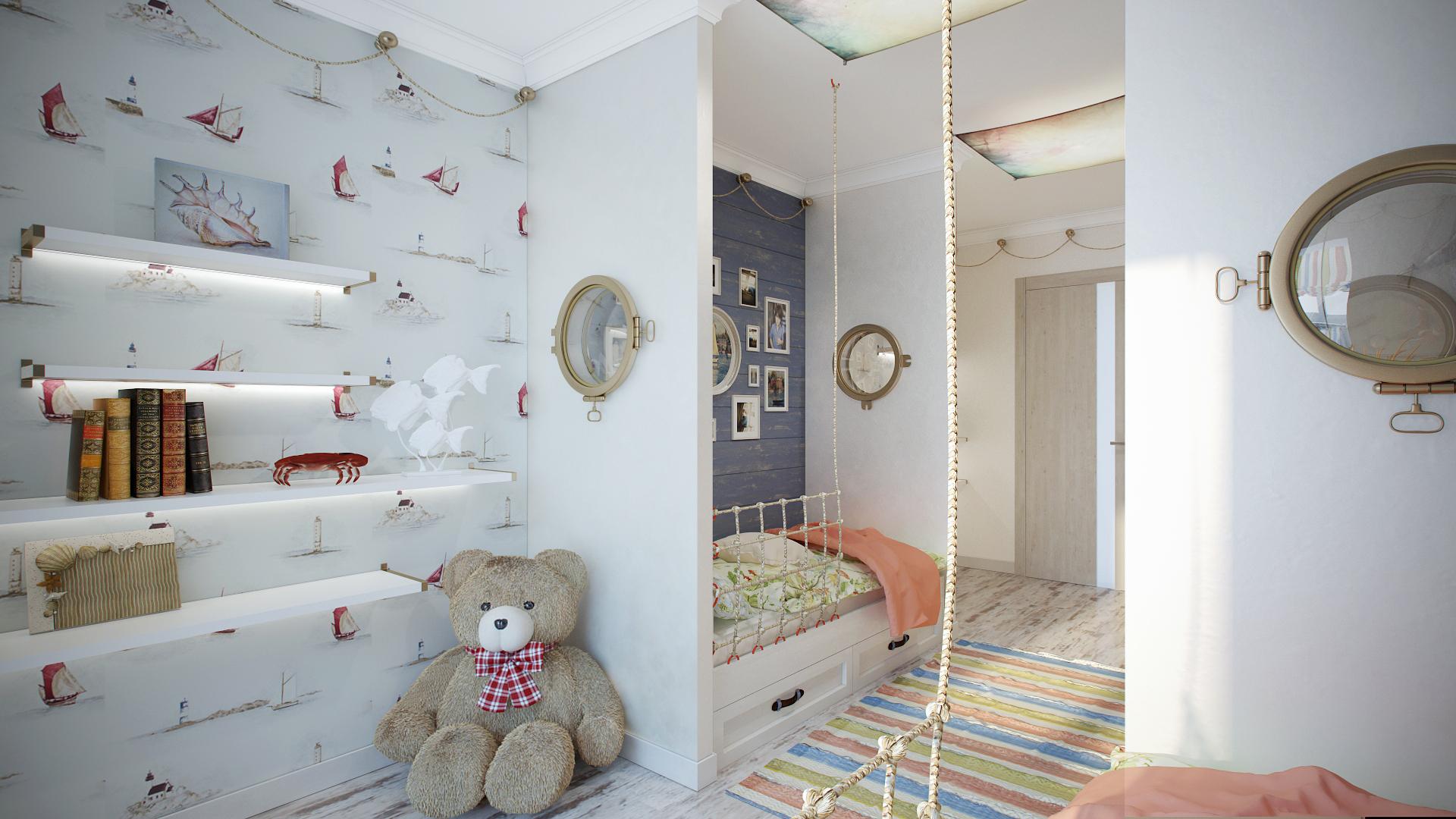 Морской дизайн в детской комнате