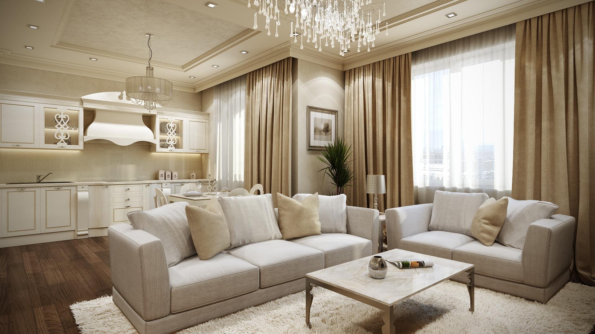 Изысканный и уютный дизайн четырехкомнатной квартиры Вид02
