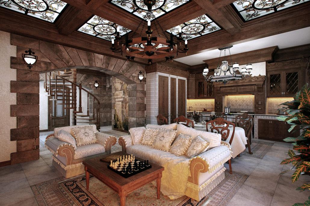 Уютный дизайн дома в классическом стиле View03