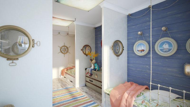 Атмосферный дизайн игровой комнаты для ребенка