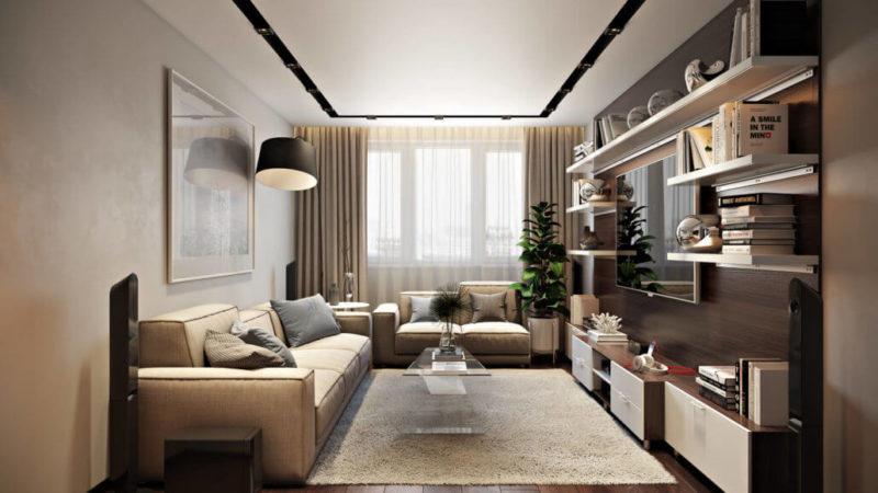 Создание уютного дизайна интерьера гостиной View01