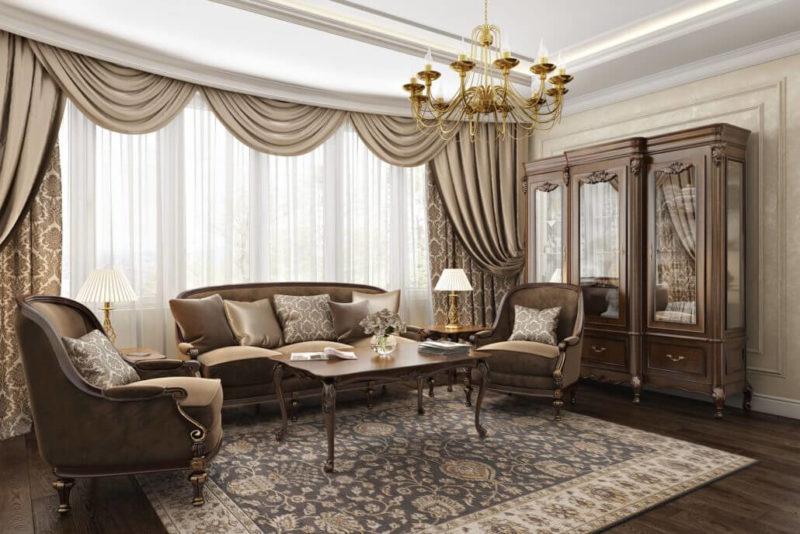 Создание уютного дизайна интерьера гостиной View02