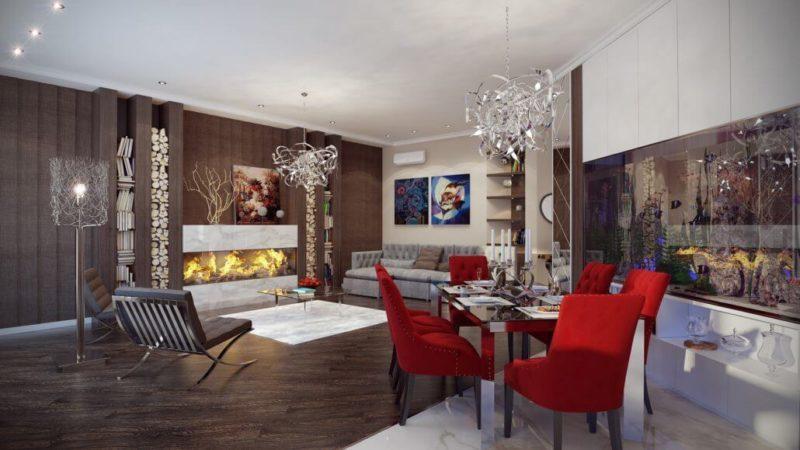 Создание уютного дизайна интерьера гостиной View03
