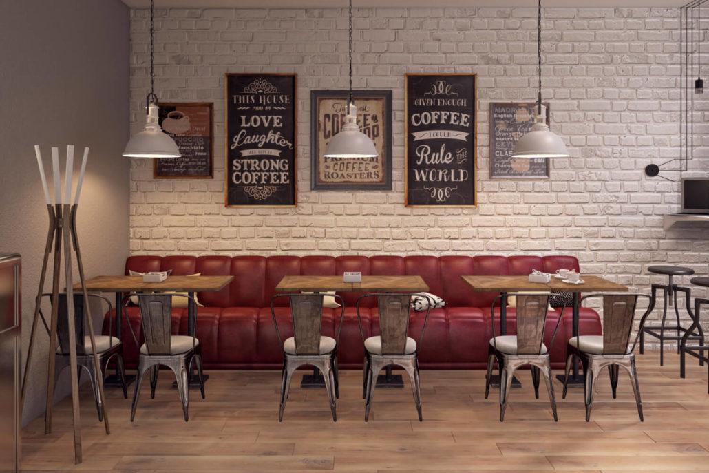 Концепции дизайна кофейни Central Coffee Вид02