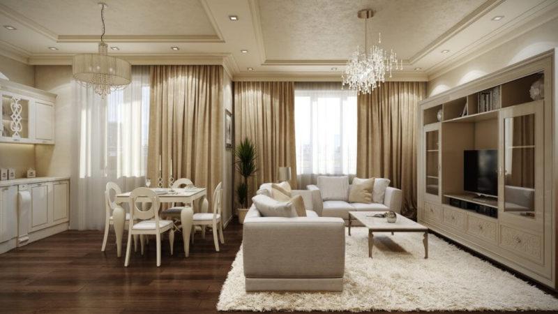 Уютный дизайн интерьера квартиры: открытая планировка