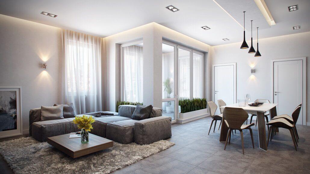 Элегантная современность - дизайн интерьера квартиры Вид 13
